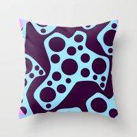 Purple Cheese Throw Pillow
