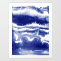 Lost In My Mind Blue Art Print