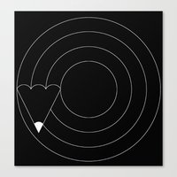 Drawing circles Canvas Print