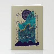 Stationery Cards featuring Northern Nightsky by Hector Mansilla
