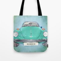 Wander Old Beetle. Green… Tote Bag