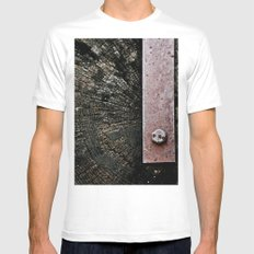Wooden Energy Mens Fitted Tee White SMALL