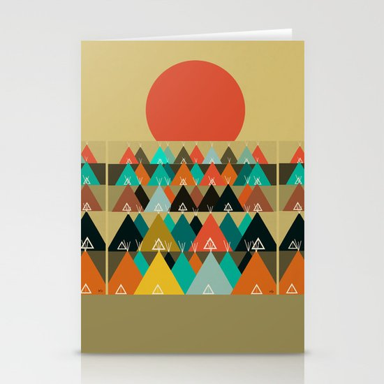 Tipi Moon Stationery Card