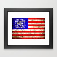 An American flag Framed Art Print
