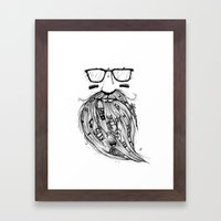 Beard Me Some Music (Bla… Framed Art Print