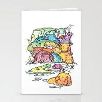 Hippo family Stationery Cards