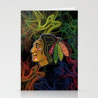 blackhawks swirl  Stationery Cards