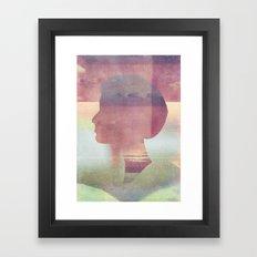 Acid Girl Framed Art Print