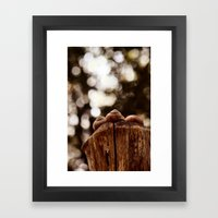 Love is, sharing a pole toghetter.... Framed Art Print