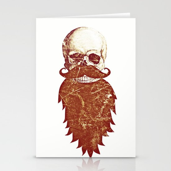 Beard Skull 2 Stationery Card