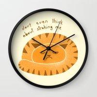Grumpy cat Wall Clock