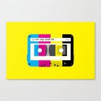 CMYK Mix tape called life Canvas Print