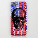 US Skull in a digital circuit. iPhone & iPod Case