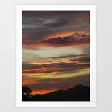 Caribbean Sunset I Art Print