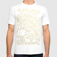 Hide (Gold) Mens Fitted Tee White SMALL