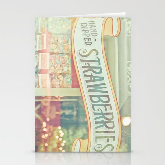 Hand-Dipped Strawberries Stationery Card