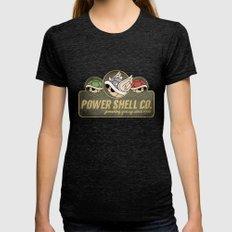 Power Shell Co. Womens Fitted Tee Tri-Black SMALL