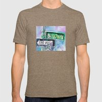Broadway Sign Mens Fitted Tee Tri-Coffee SMALL
