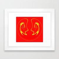 Avant Grin Framed Art Print