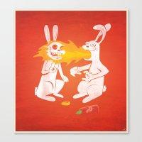 Fire Bunny Canvas Print