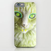 iPhone & iPod Case featuring Yellow Cat by Cat Kitsch