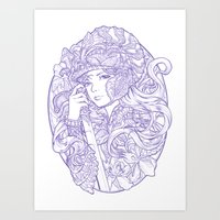 Iris Knight Lines Art Print