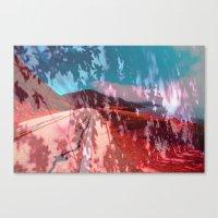 Distorted Hilltops #4 Canvas Print
