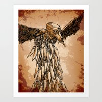 KNIFE VULTURE Art Print