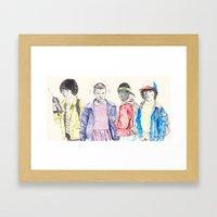 STRANGER THINGS Framed Art Print