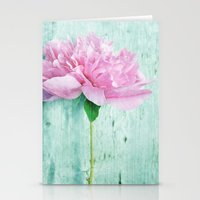 Pink & Mint Stationery Cards