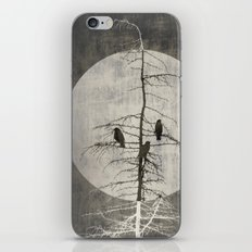 Full Moon and Crows iPhone & iPod Skin