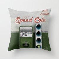 Speed Cola Throw Pillow