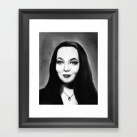 Morticia Framed Art Print