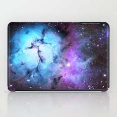 Blue Floral Nebula iPad Case