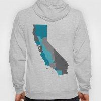 I Love California - California State Map Print Hoody