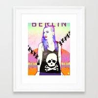 Welcome To BERLIN ||| Willkommen in Berlin Framed Art Print