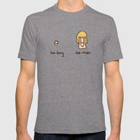 Becoming A He-Man Mens Fitted Tee Tri-Grey SMALL
