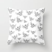 Chicks of prey (belligerant and unconquered) Throw Pillow