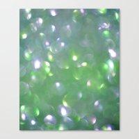 Glitter Bubbling Canvas Print