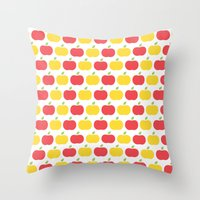 The Essential Patterns of Childhood - Apple Throw Pillow
