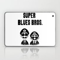 Super Blues Bros. (Black and White) Laptop & iPad Skin