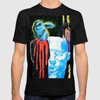 Horror Bunny Mens Fitted Tee Tri-Black SMALL