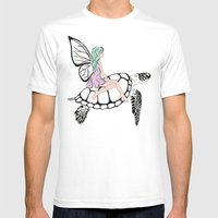Fairy/ Turtle  Mens Fitted Tee White SMALL