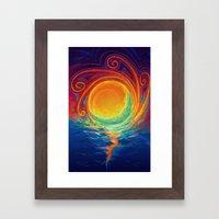 Sun Moon & Stars Framed Art Print