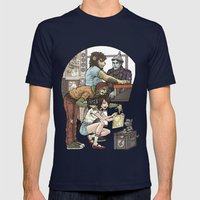 Wizard of Oz Mens Fitted Tee Navy SMALL