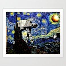 Starry Night versus the Empire Art Print