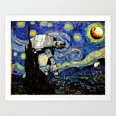 Starry Night Versus The … Art Print