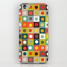 retro boxed dots iPhone & iPod Skin