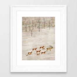Framed Art Print - a new home for winter - bri.buckley