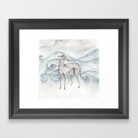 Whippet Framed Art Print